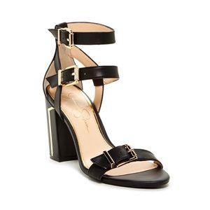JESSICA SIMPSON Julinda Black Heeled Sandals